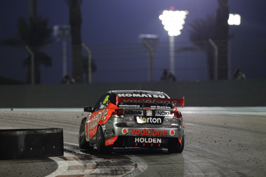 Supercars last raced under lights at Abu Dhabi in 2011
