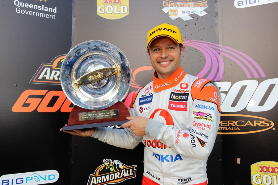 The Triple Eight  Race Engineering international driver  Andy Priaulx wins the International Driver Trophy during the Armor All Gold Coast 600, event 11 of the 2010 Australian V8 Supercar Championship Series at the Gold Coast Street Circuit, Surfers Paradise, Queensland, October 24, 2010.
