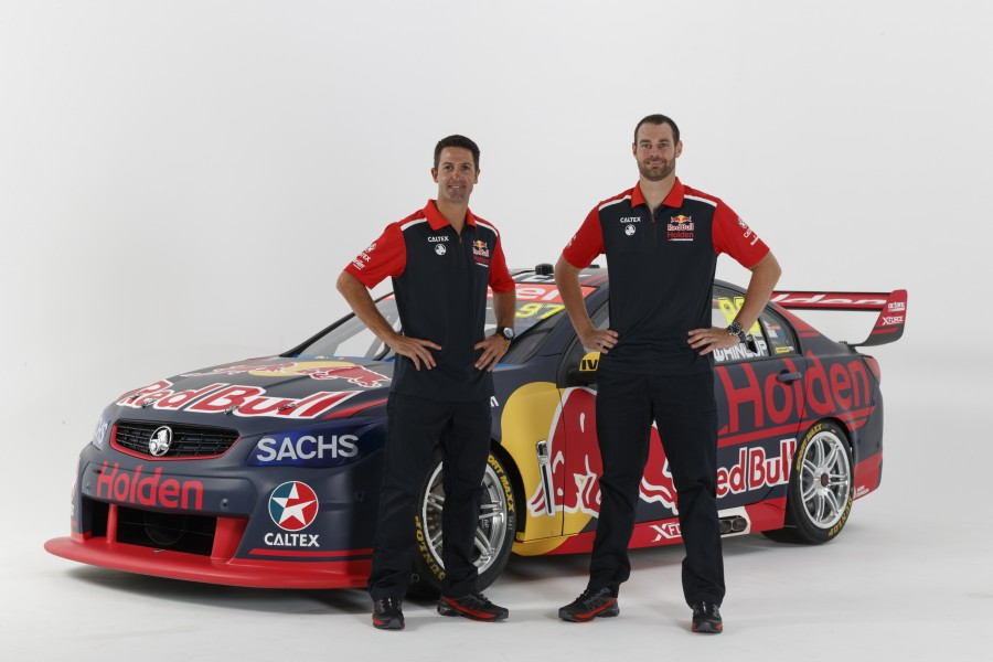 2017 Red Bull Holden Racing Team drivers Jamie Whincup and Shane van Gisbergen.