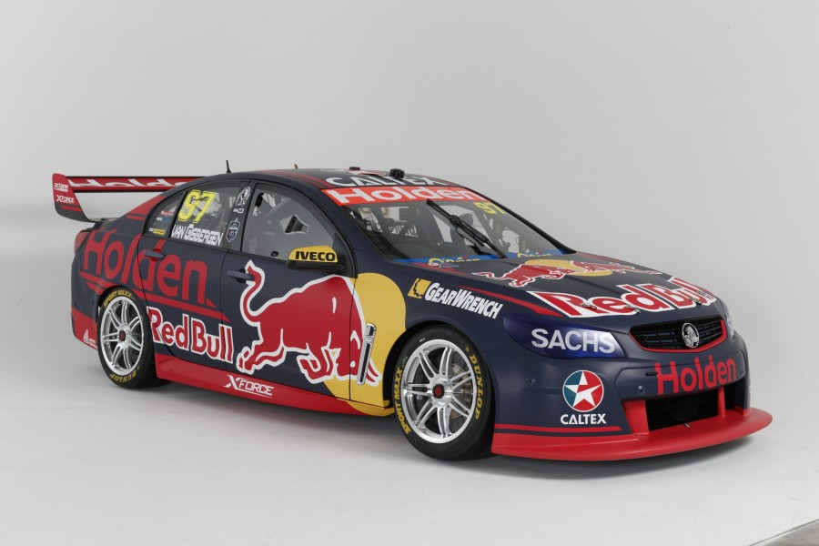 A close-up of Shane van Gisbergen's 2017 title defender.