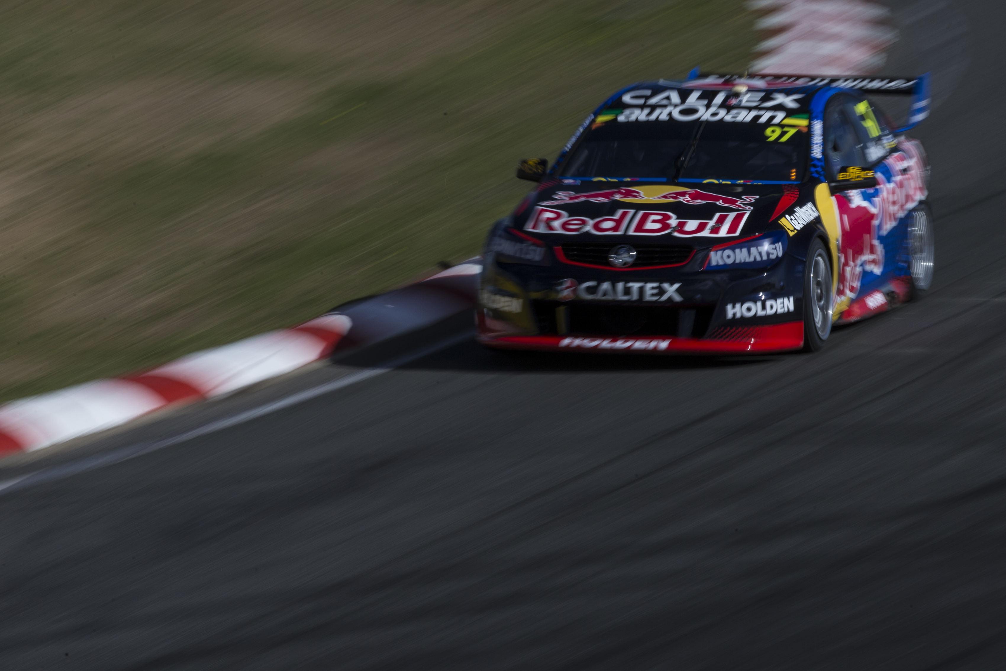 Shane Van Gisbergen of Red Bull Racing Australia during the Tyrepower Tasmania SuperSprint,  at the Symmons Plains Raceway, Launceston, Tasmania, April 02, 2016.