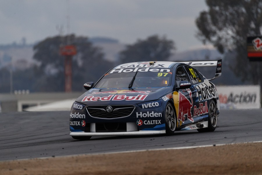 Craig Lowndes performs during the sixth stop of the Supercars Championship in Winton, Victoria, on May 18th, 2018.
