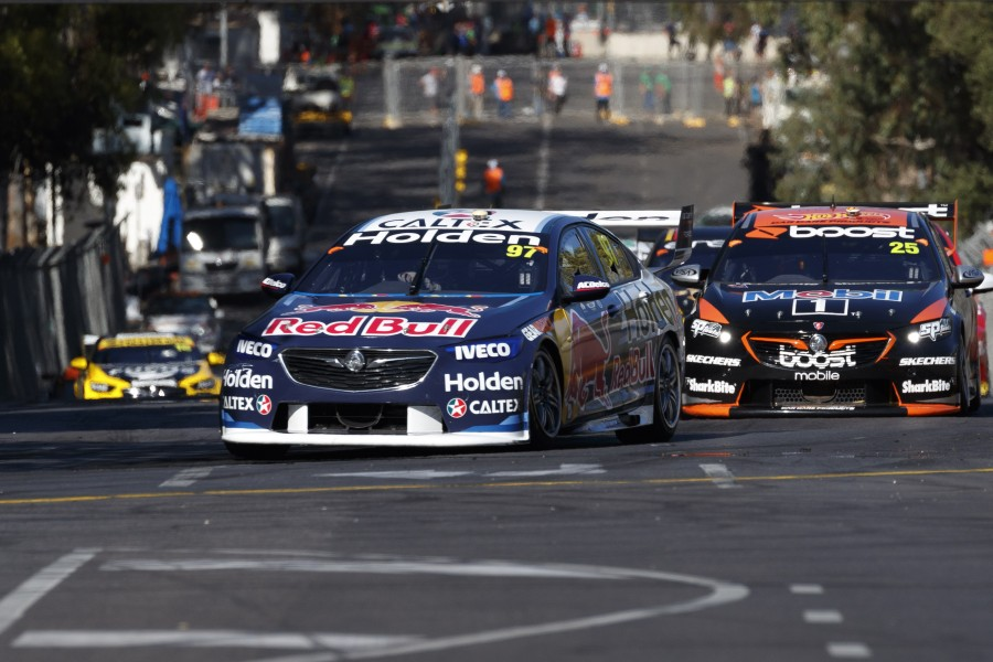 Shane van Gisbergen of Red Bull Holden Racing Team wins the ,  at the , , , March 03, 2018.