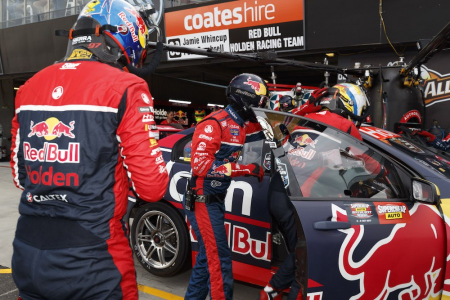 Shane van Gisbergen of Red Bull Holden Racing Team during the ,  at the , , , October 08, 2017.