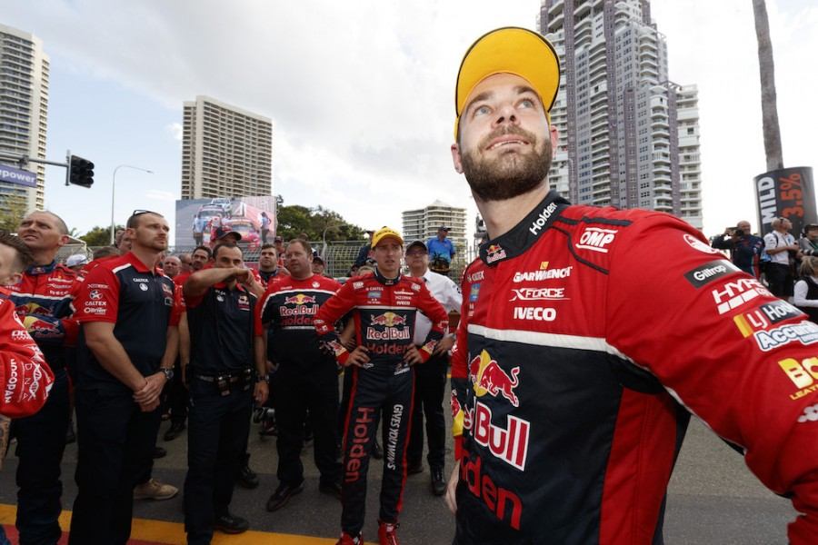 Shane van Gisbergen of Red Bull Holden Racing Team during the Vodafone Gold Coast 600,  at the Surfers Paradise , Gold Coast, Queensland, October 22, 2017.