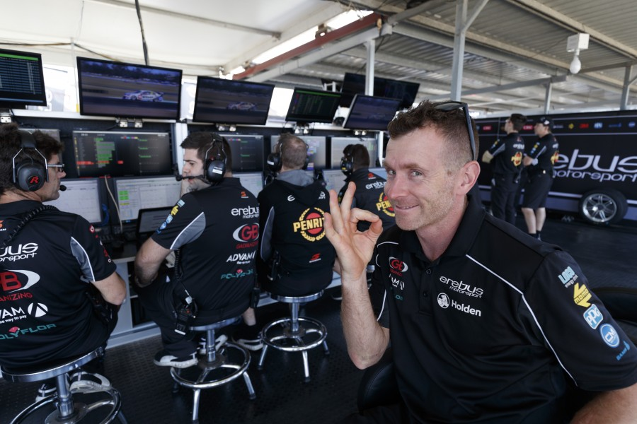 Dale Wood of Erebus Motorsport V8 during the Coates Hire Ipswich SuperSprint,  at the Queensland Raceway, Ipswich, Queensland, July 28, 2017.