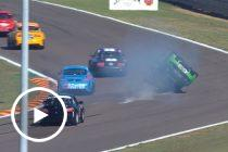 Wild accident in Aussie Racing Cars