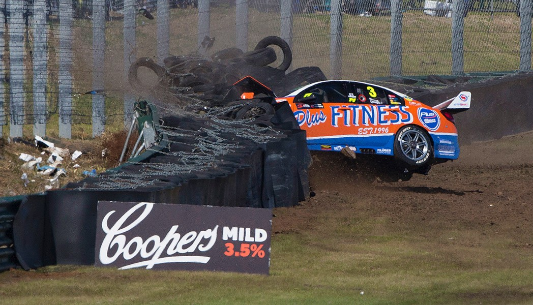 Taz Douglas found the barrier on Sunday
