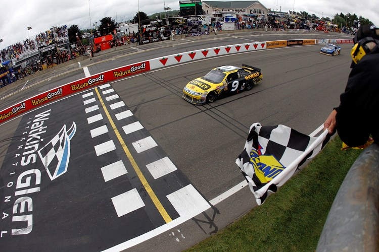 Ambrose winning at Watkins Glen in 2011