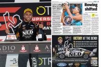 Kelly Grove Racing celebrates Heimgartner's win with half-page newspaper ad