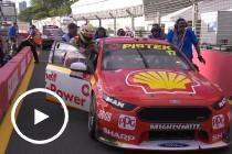McLaughlin pushes car to podium after win