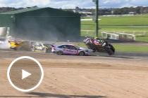 Huge Dunlop Series crash at Sandown