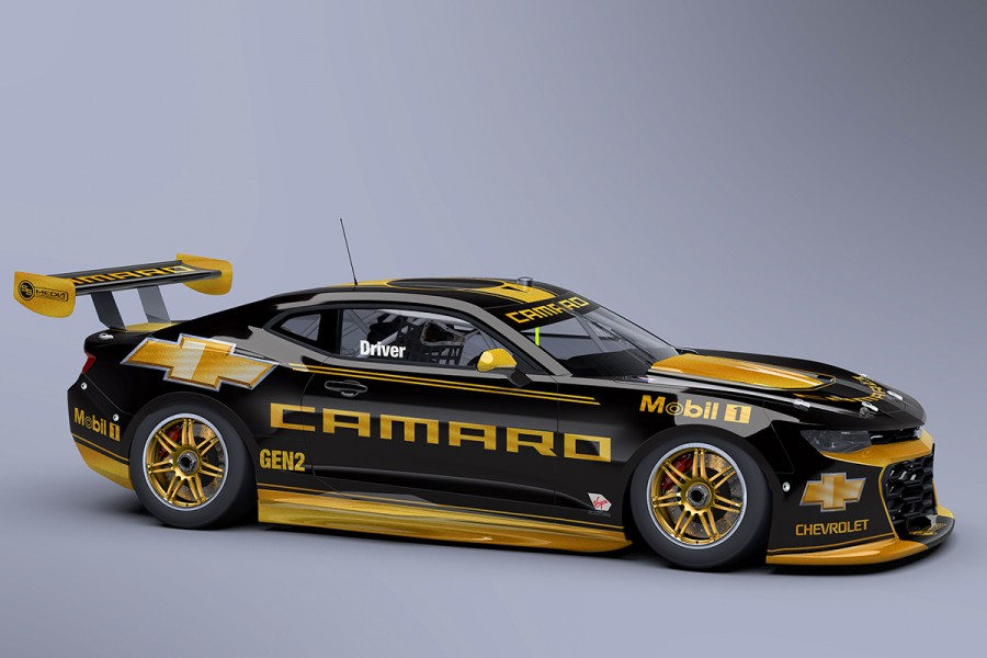 An artist's impression of a Supercars Camaro