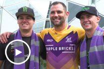 Tickford pair get kicking tips from Storm legend
