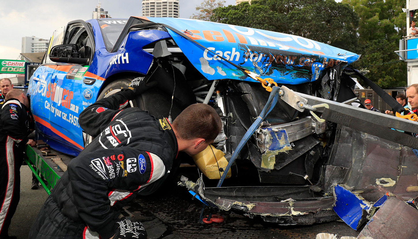 Fabian Coulthard Car Crash Gold Coast