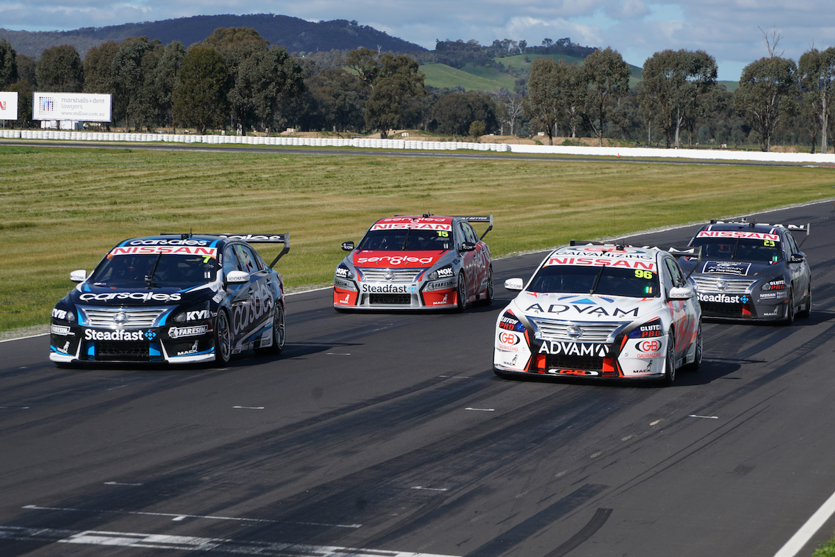 Nissan Motorsport all four cars Winton test 2016 August
