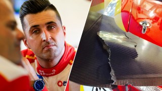 Coulthard's lucky escape in Race 13