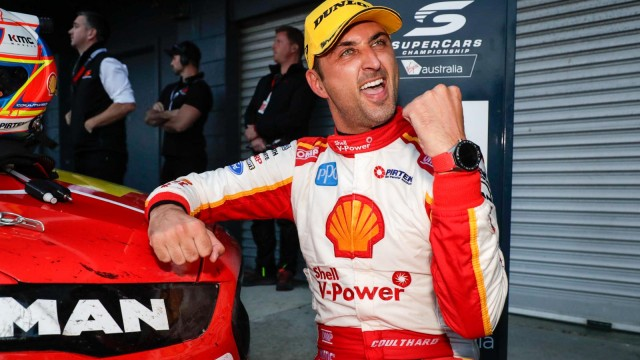 Coulthard wins amid tyre, penalty drama