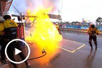 Percat Holden catches fire in pit lane