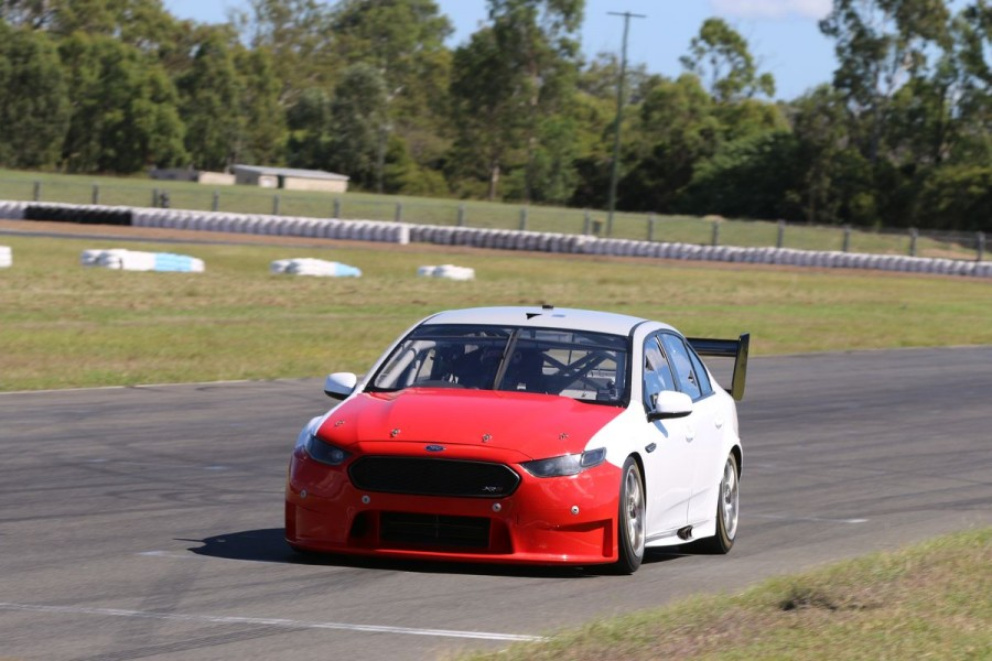 Fullwood's Ford testing at Queensland Raceway
