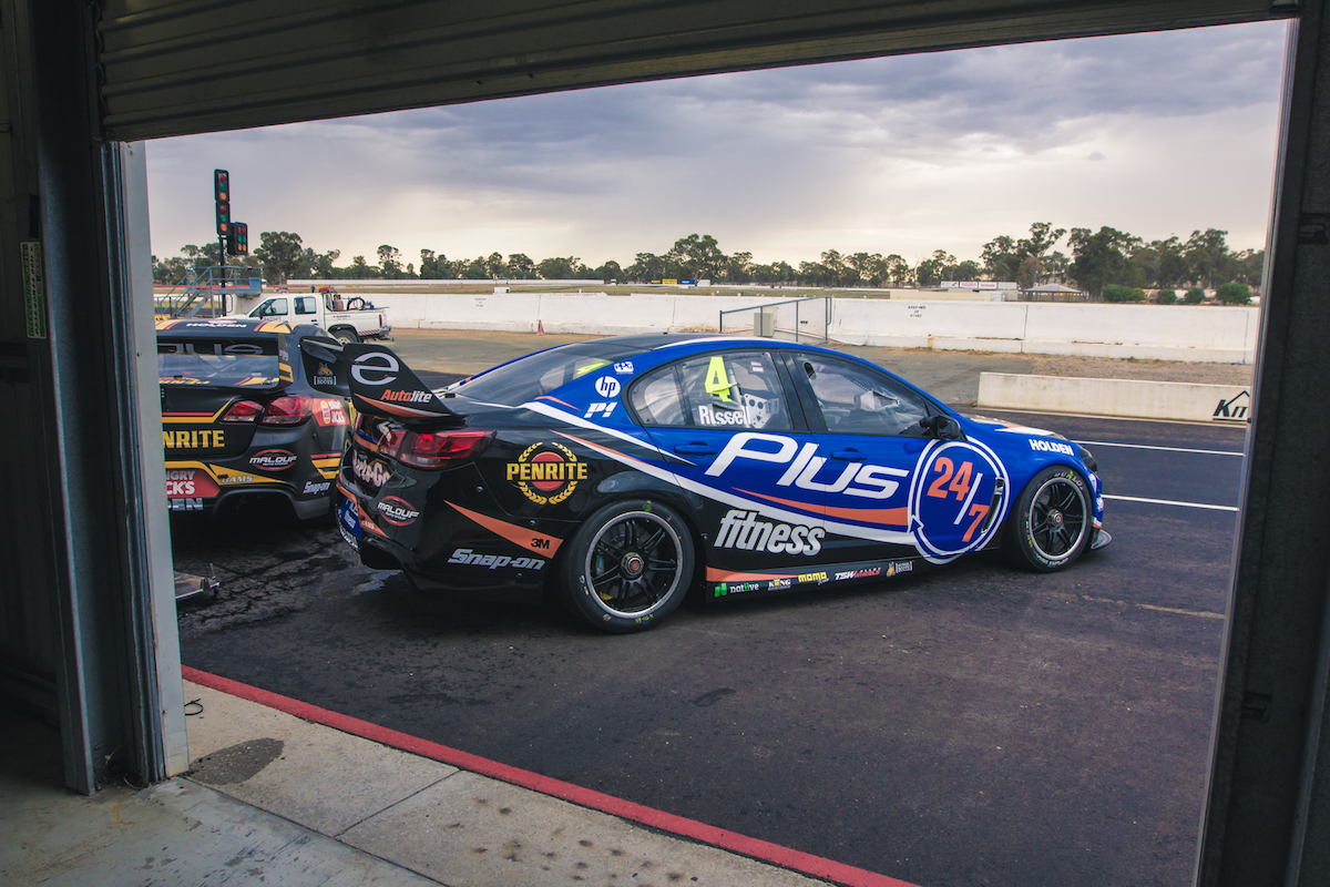 Aaren Russell car Winton test