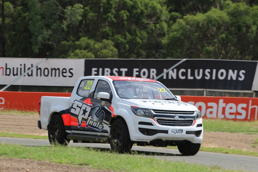 The Ross Stone Racing Holden on track