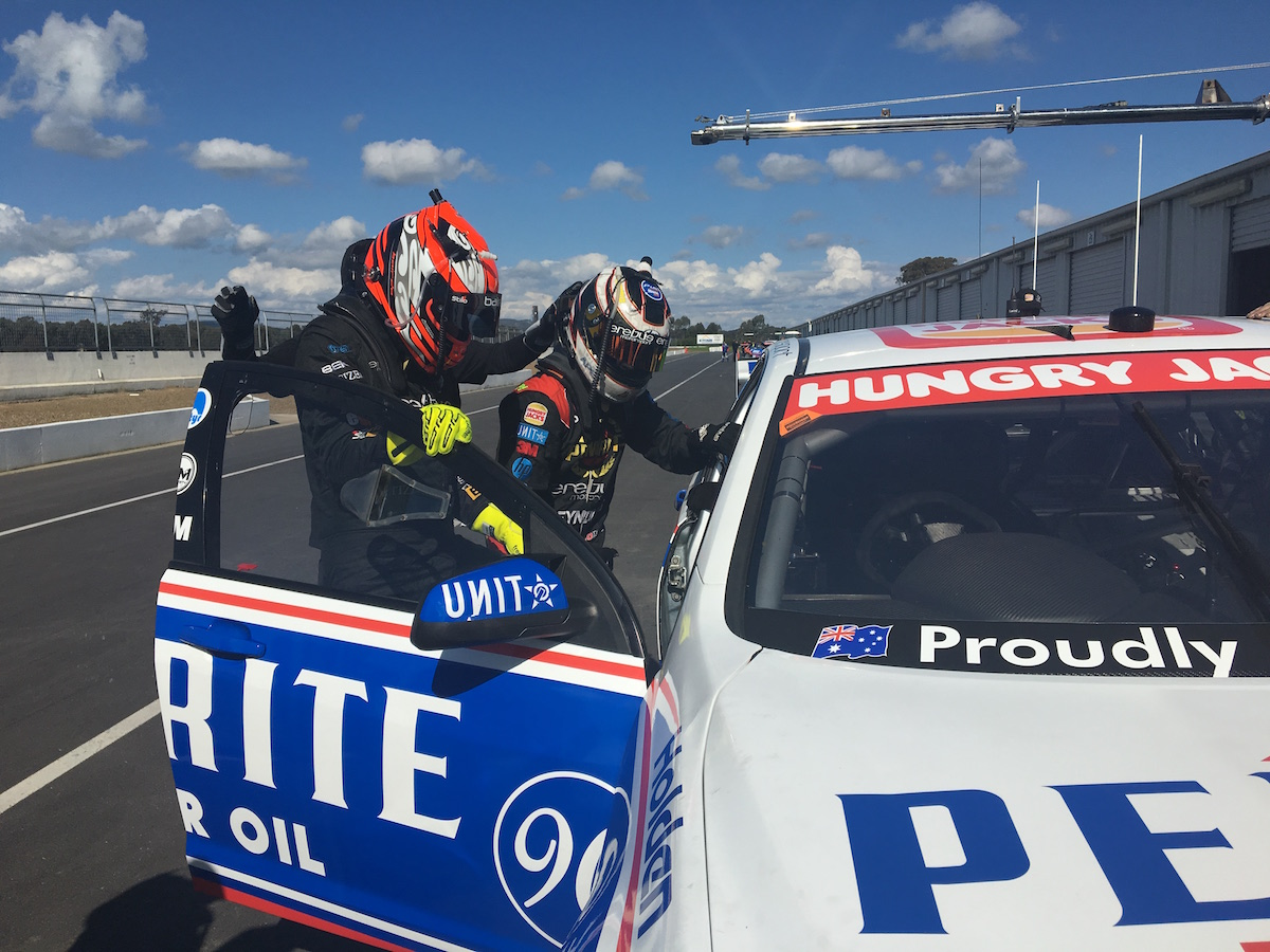Driver change Erebus test Winton 2016