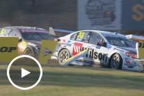Tander and Van Gisbergen collide