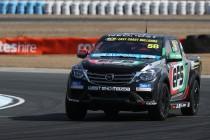 Harris fastest, Mazda team-mate Cameron rolls