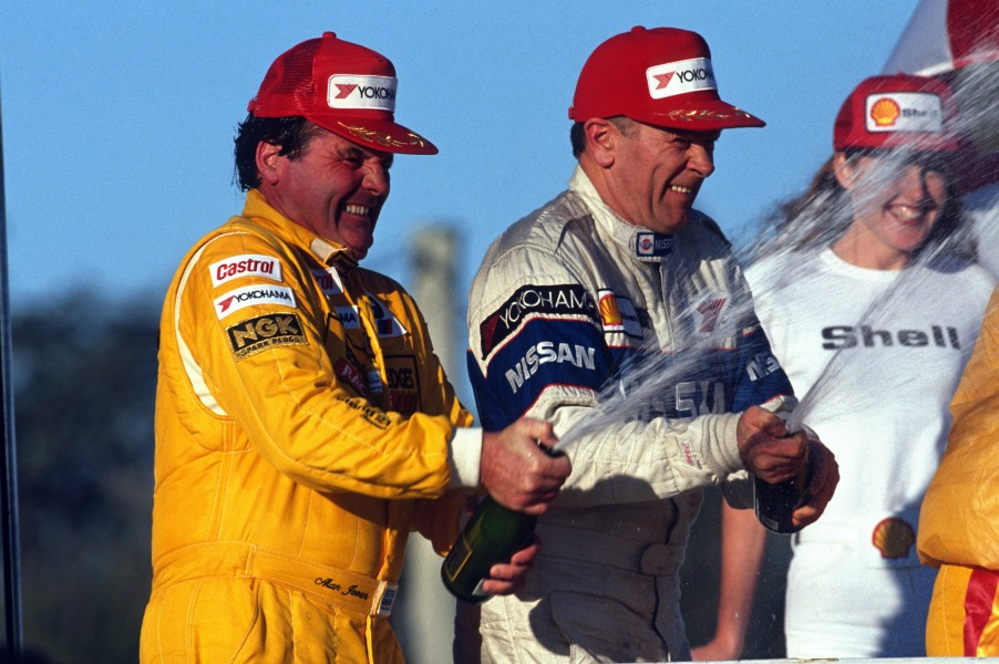 Alan Jones joined Longhurst on the podium