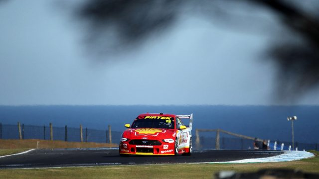 Coulthard leads Friday all-Mustang top three