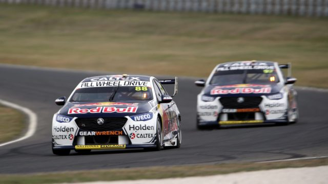 Whincup leads Red Bull HRT practice 1-2