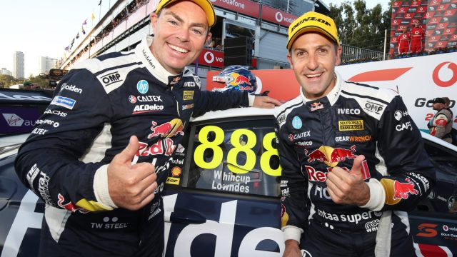 Whincup/Lowndes lead Red Bull HRT 1-2