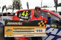 Dontas leads Mitsubishi qualifying one-two