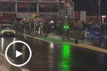 Mostert takes on drag car