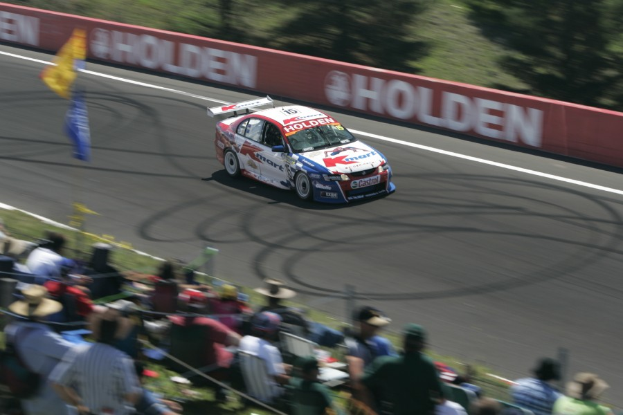 V8 Supercar Championship Round 10 Bathurst: V8 Supercar driver Steve Richards after he set the fastest time in the the Shootout to take pole at Bathurst for round 10 of the V8 Supercar Championship this weekend.