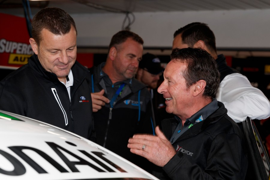 Nash, right, with Ford Australia boss Graeme Whickman