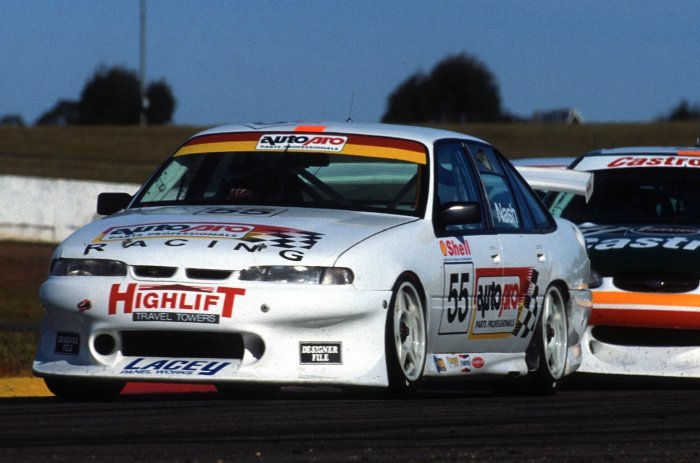 Nash competing in his first Supercars season in 1998