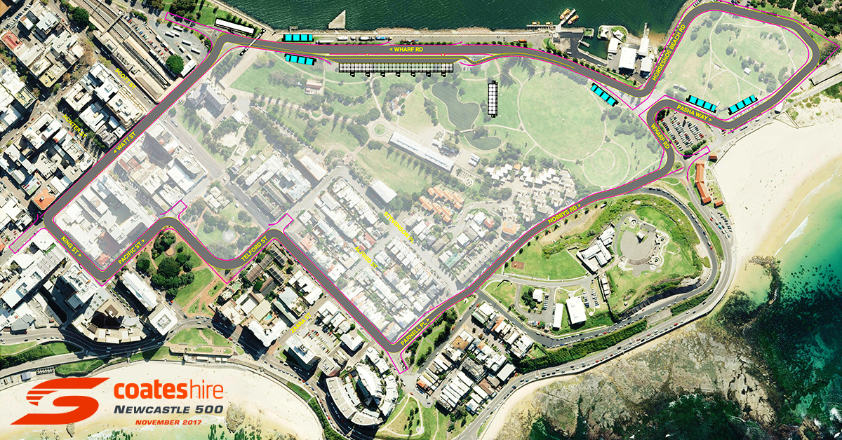 Newcastle 500 Circuit Map