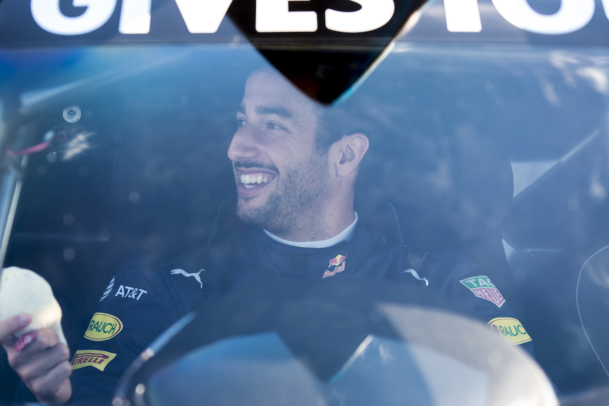 Daniel Ricciardo at Sandown Raceway, Australia on March 16, 2016.