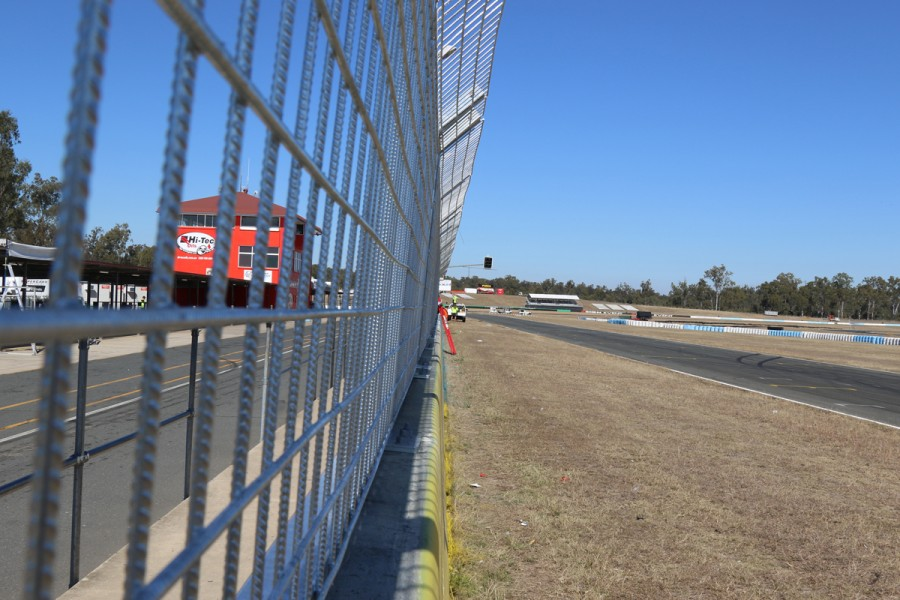 New pit wall fencing will be finished for 2019