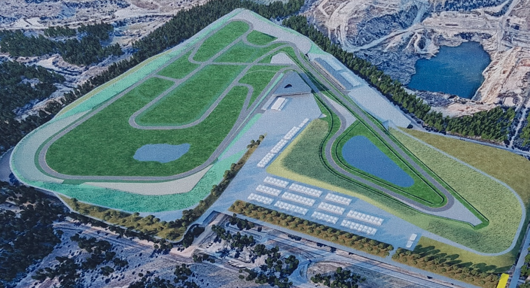 The latest layout proposed for Queensland Raceway