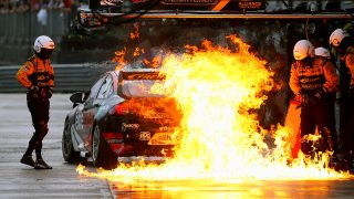 Percat hoped car fire would blow out