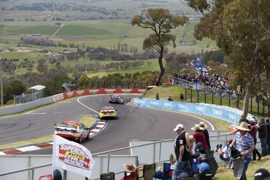The tarmac run-off on drivers' left at Bathurst