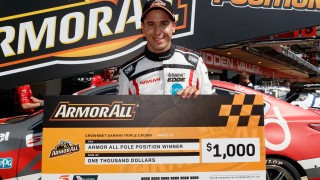 Rick Kelly hands Nissan Hidden Valley pole
