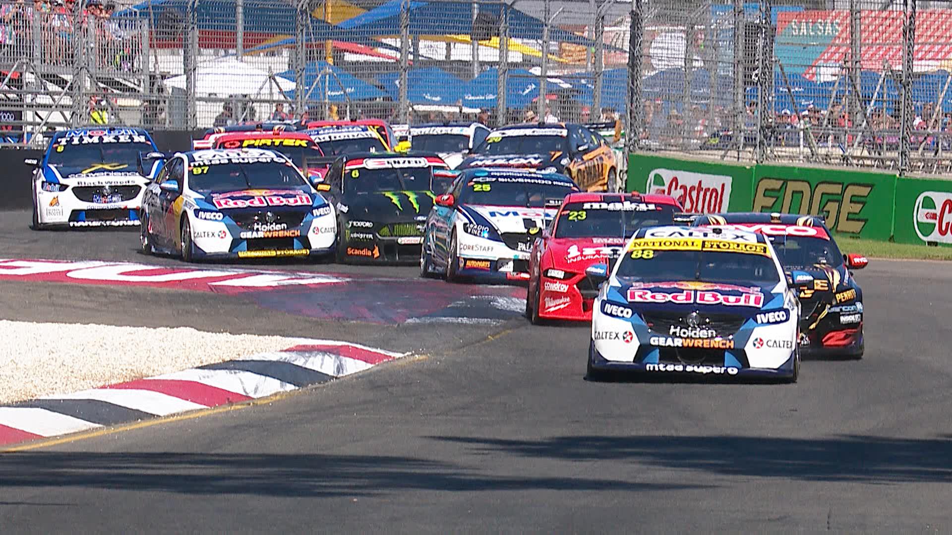 Highlights Race 1 Superloop Adelaide 500 Supercars