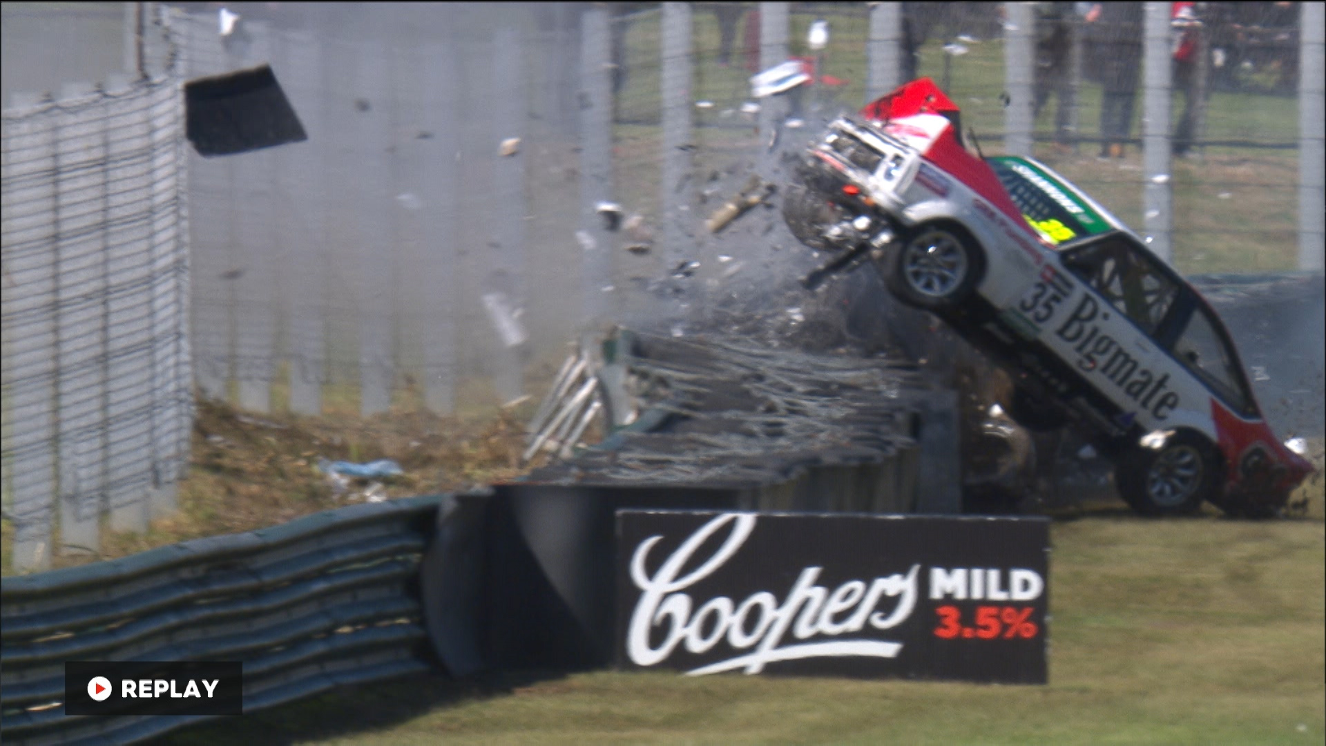 Major crash for TCM Torana | Supercars