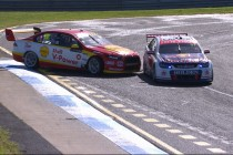 Caruso fastest as Van Gisbergen, Coulthard tangle