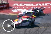 Coulthard, Stanaway collide