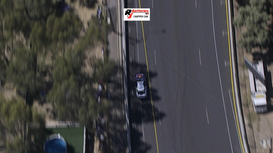 Van Gisbergen's position on track exiting Turn 7